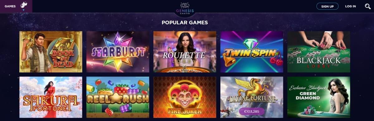 Genesis Casino Slots And Games