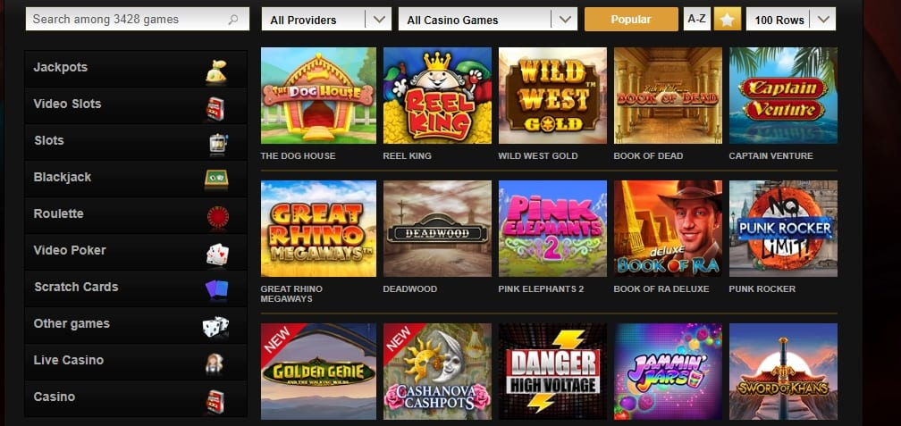 Video Slots Casino Home Page