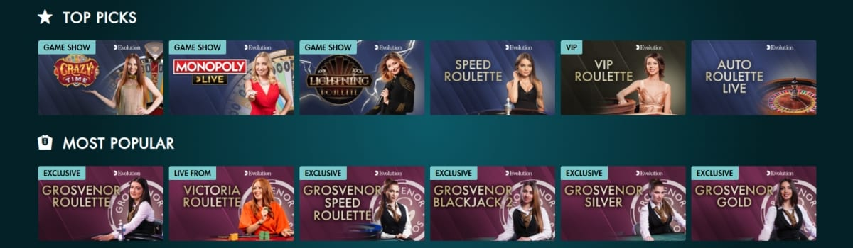 Grosvenor Casino Live Dealer