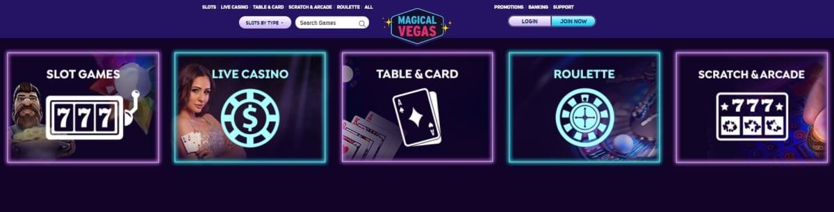 Magical Vegas Casino Games