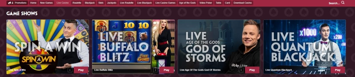 Paddy Power Casino Live Table Games