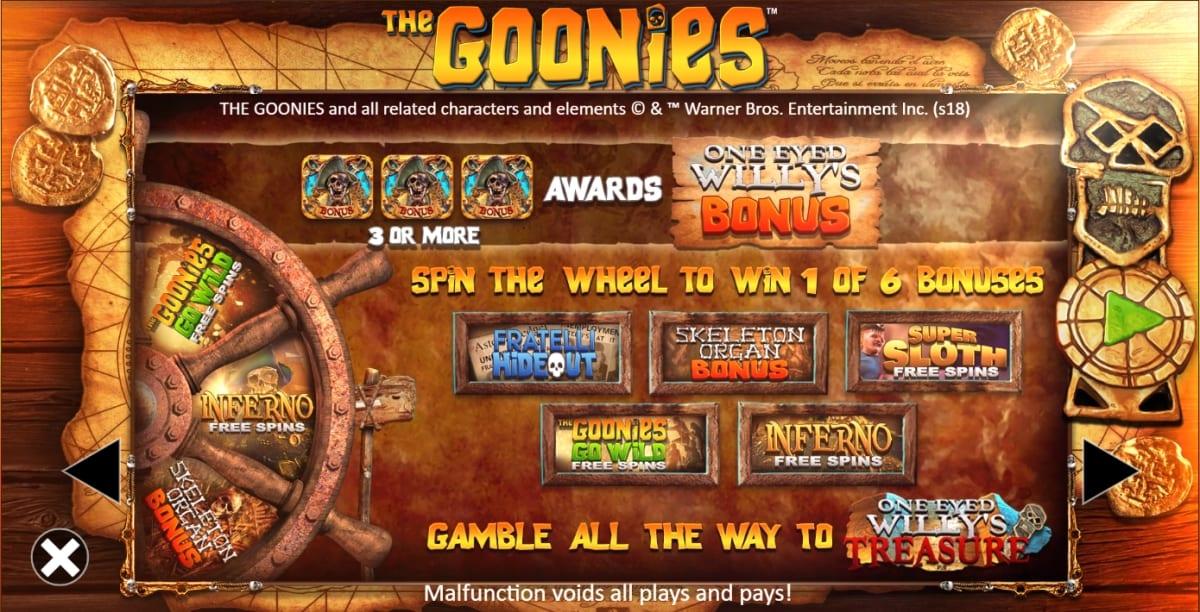 The Goonies Slot Bonus