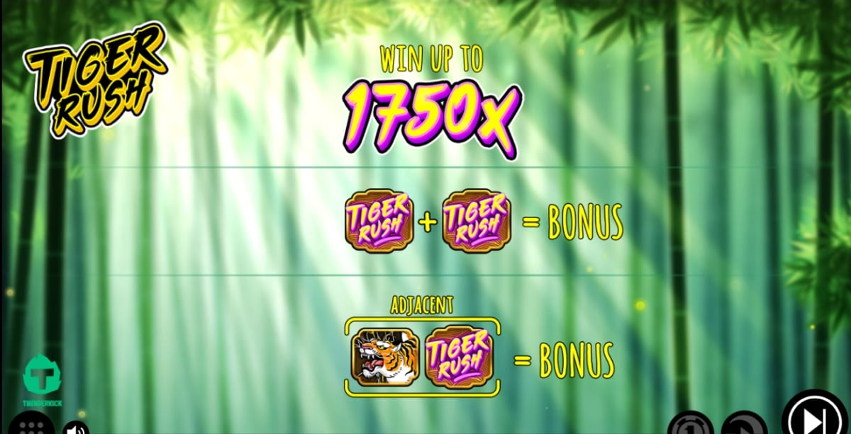 Tiger Rush Slot Paytable