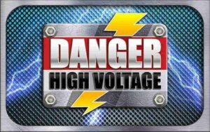 Danger High Voltage Slot Logo