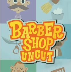 Barber Shop Uncut Slot Logo