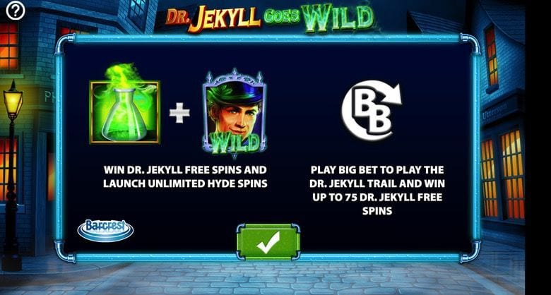 Dr Jekyll Goes Wild Slot Pay Table