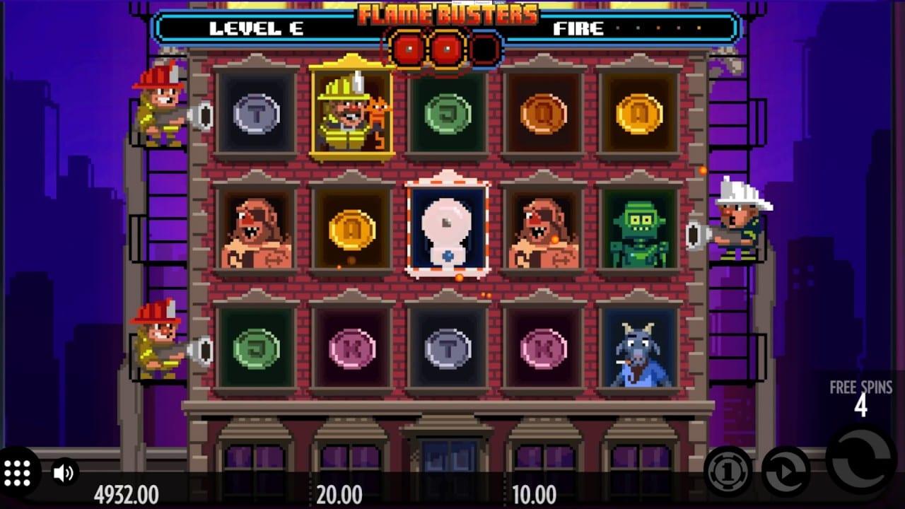 Flame Busters Slot Bonus