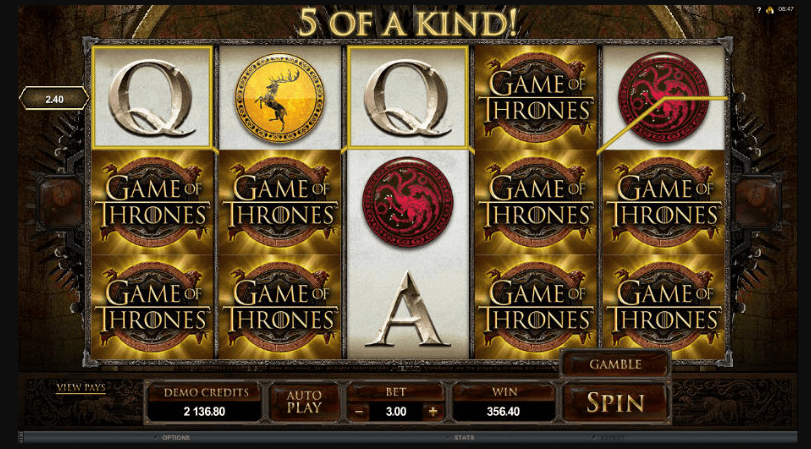 Game Of Thrones Slot big win