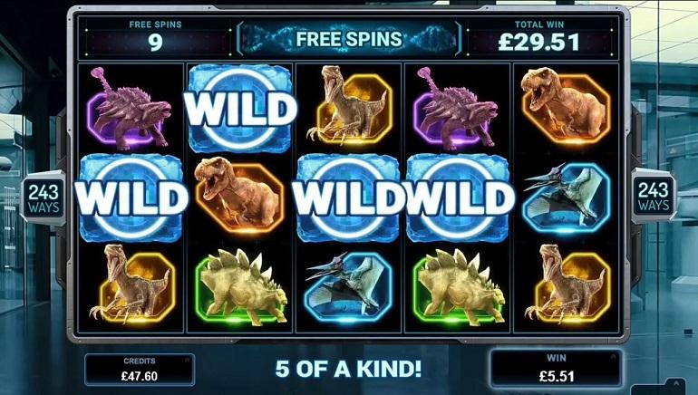 Jurassic World Slot Free Spins