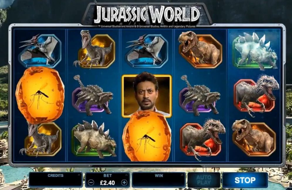 Jurassic World Slot gameplay
