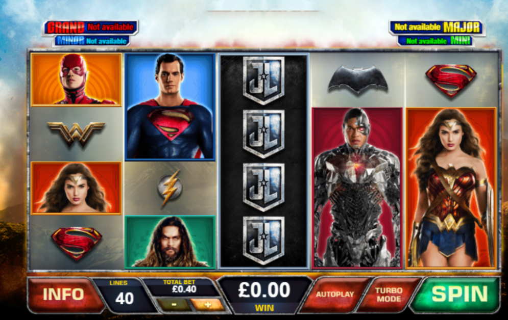 Justice League Slot Game Play