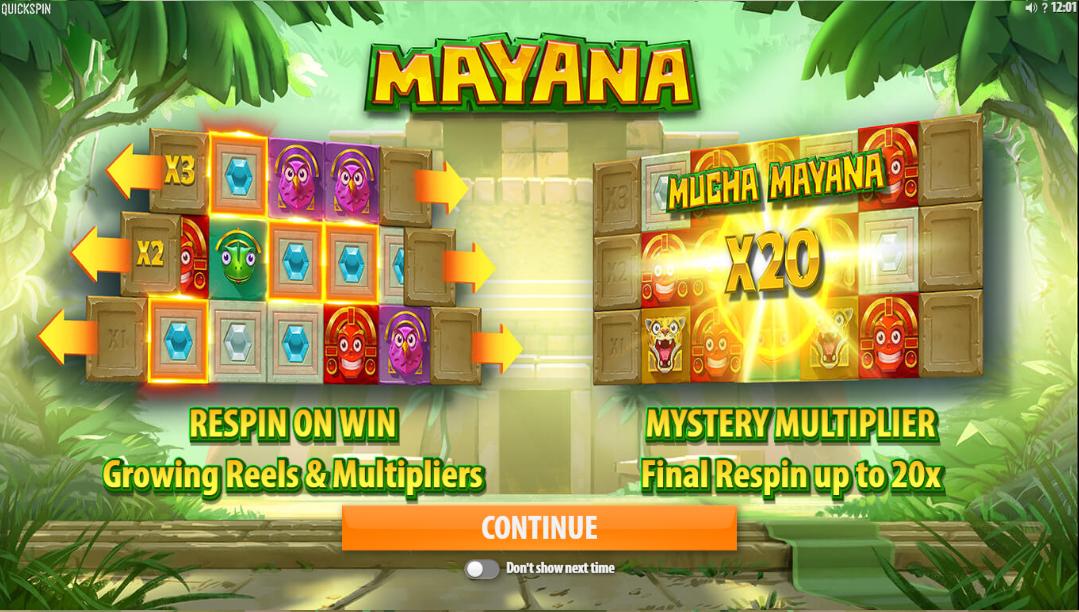 Mayana Slot Game Info