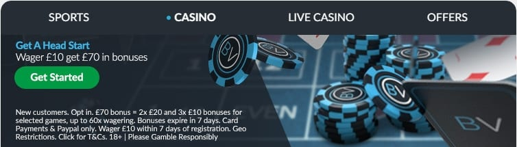 Bet Victor Casino Welcome Offers