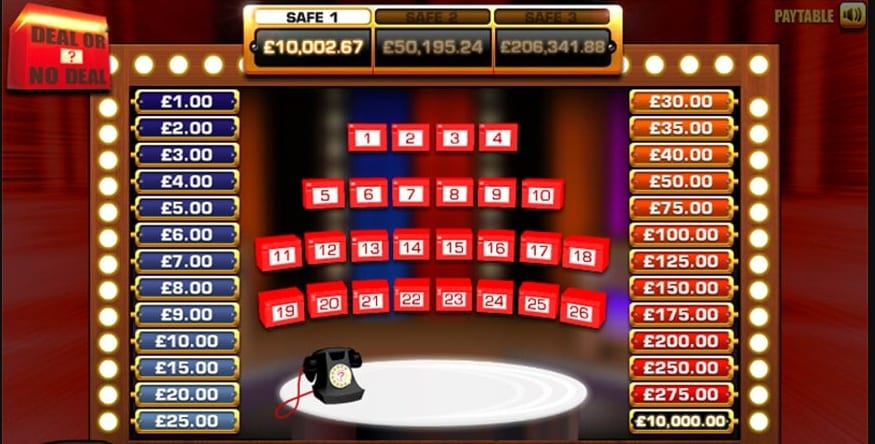 Deal Or No Deal Slot Gameplay