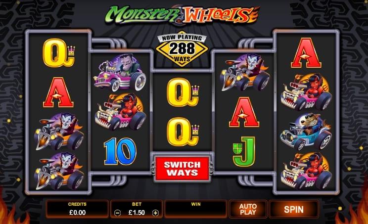 Monster Wheels Slot game play