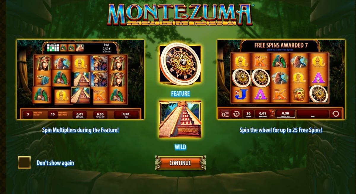 Montezuma Slot Paytable