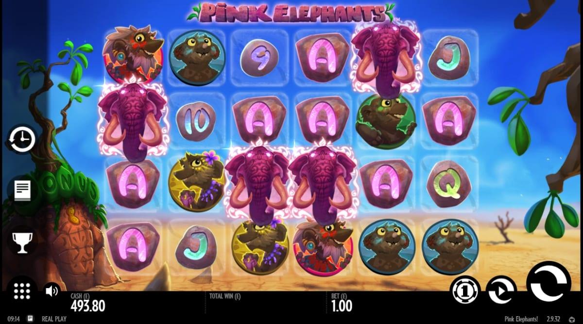 Pink Elephants Slot Game Play