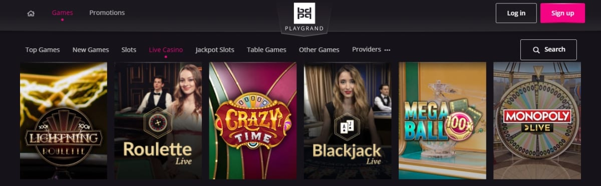 Playgrand Casino Live Dealer