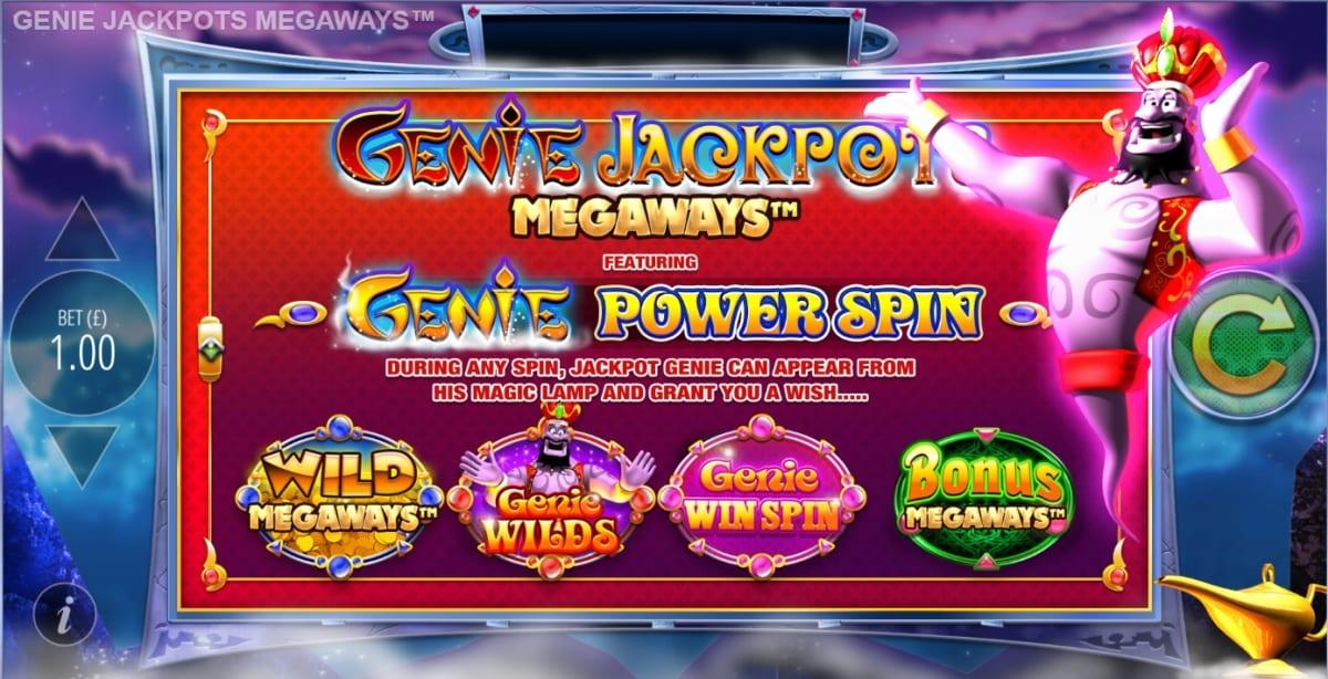 Genie Jackpots Megaways Slot Features