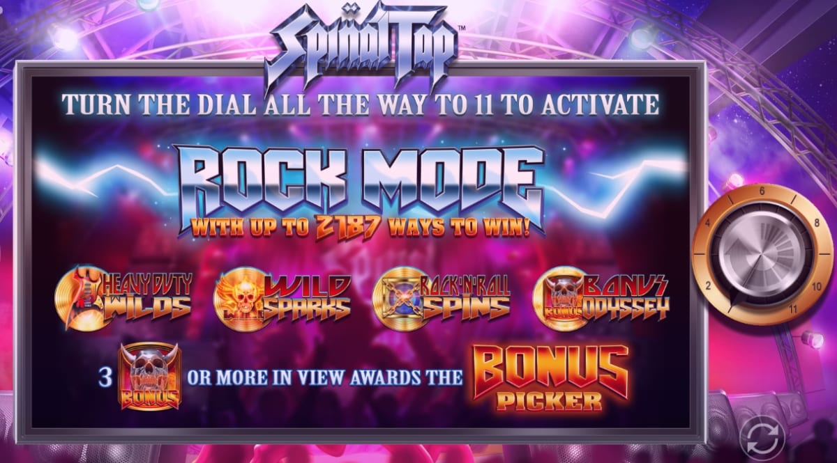 Spinal Tap Slot Features
