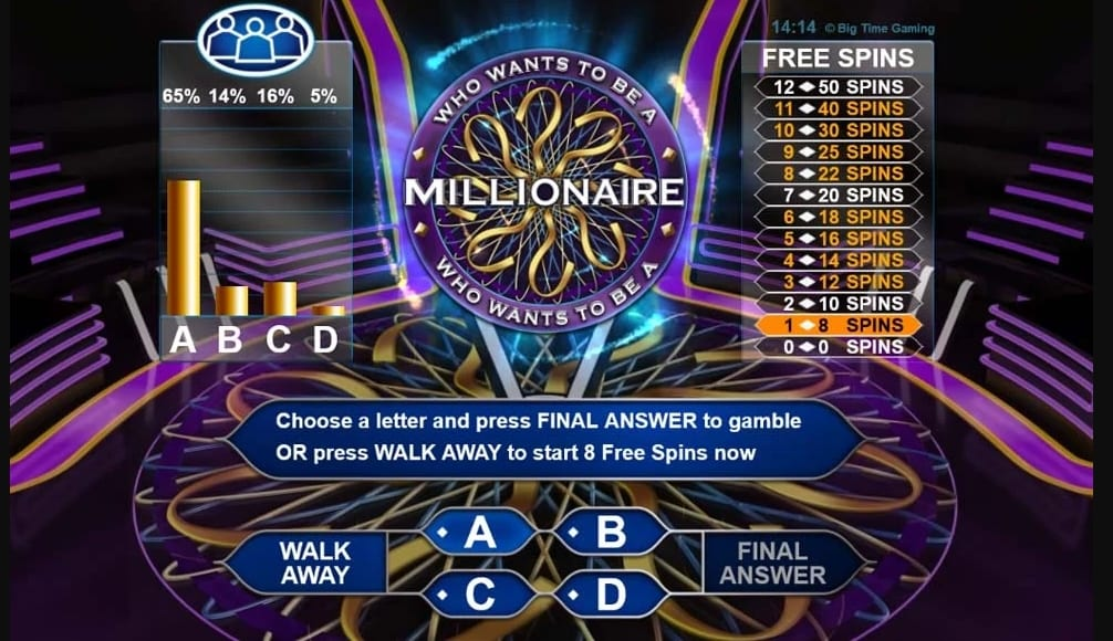 Who Wants To Be A Millionaire Slot Feature