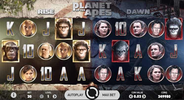 Planet of the Apes Slot Game Play