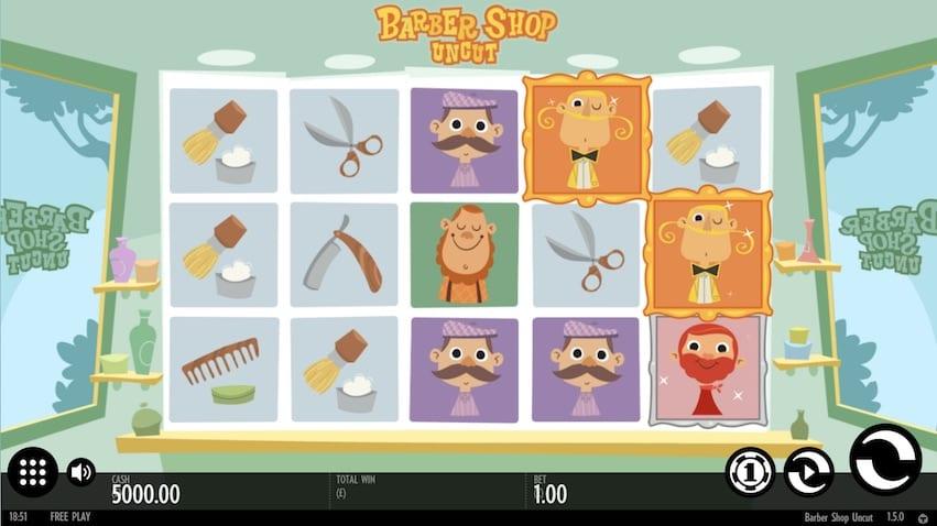 Barber Shop Uncut Slot Game Play