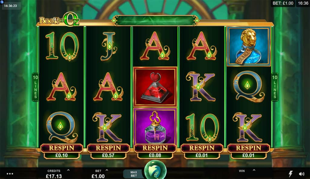 Book Of Oz Slot Game Play