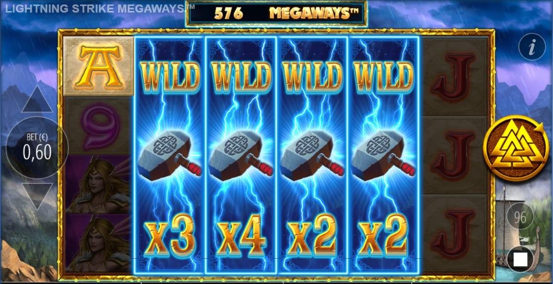 llightning strike megaways slot big win