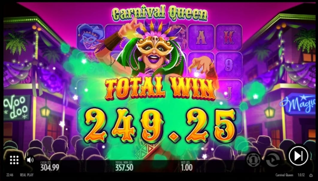 Carnival Queen Slot Big Win