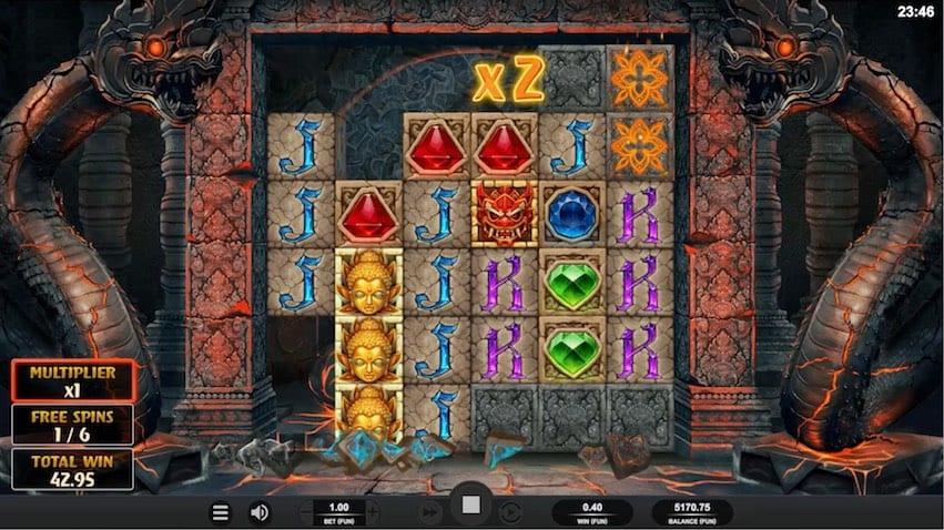 Temple Tumble Megaways Slot Big Win