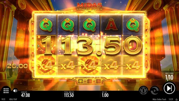 Midas Golden Touch Slot Big Win
