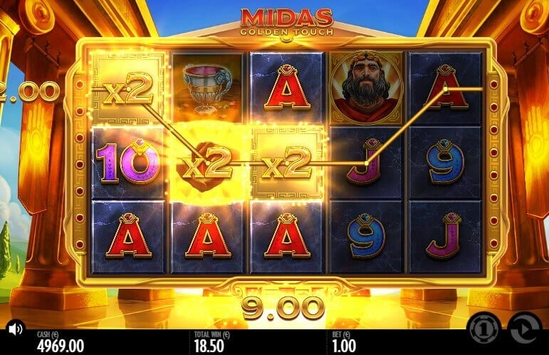 Midas Golden Touch Slot Gameplay