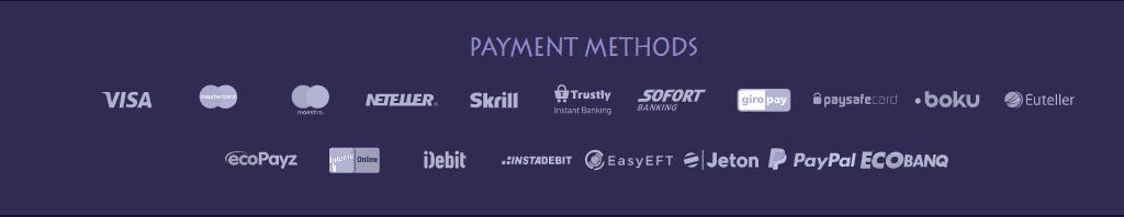 Casino Gods Casino Payment Methods