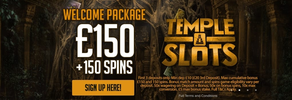 Temple Slots Casino Welcome Offer