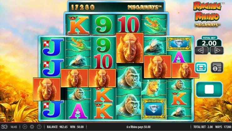 Raging Rhino Megaways Slot big win