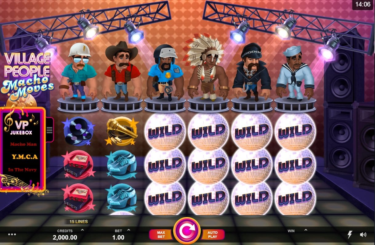 Village People - Macho Moves Slots slots review