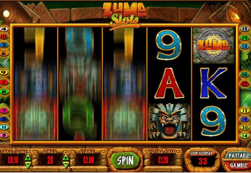 Zuma Slot Blueprint Gaming Exciting Online Slot