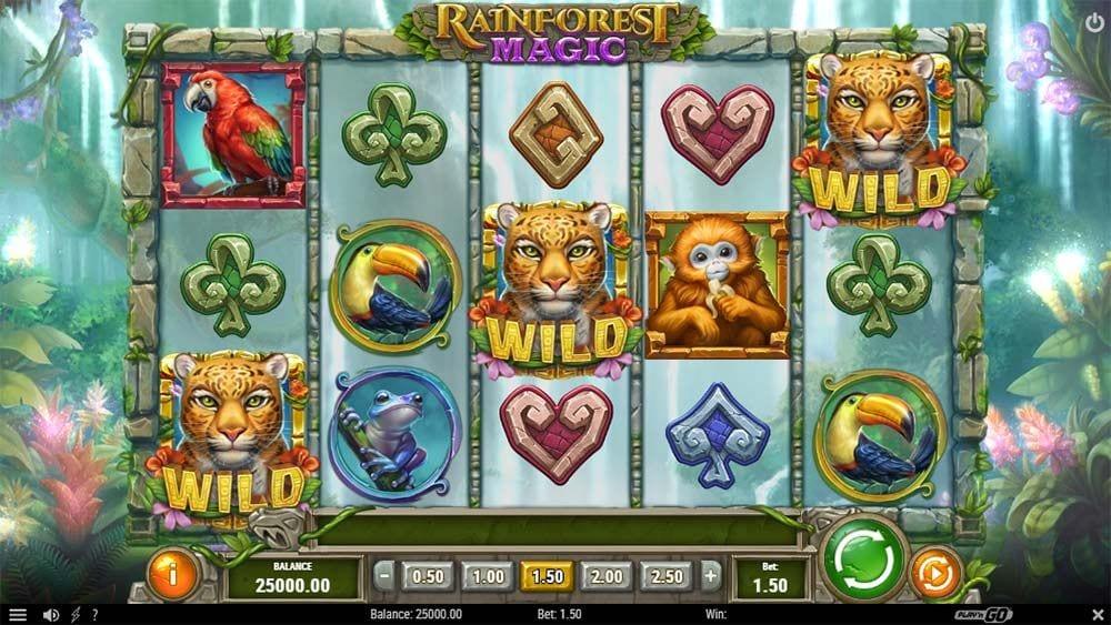 rainforest magic slot wilds