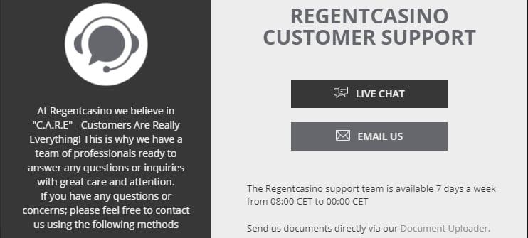 Regent Casino Contact