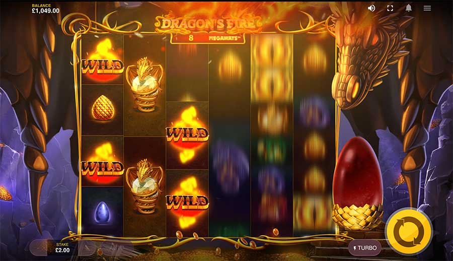 Dragons Fire Megaways Slot wilds