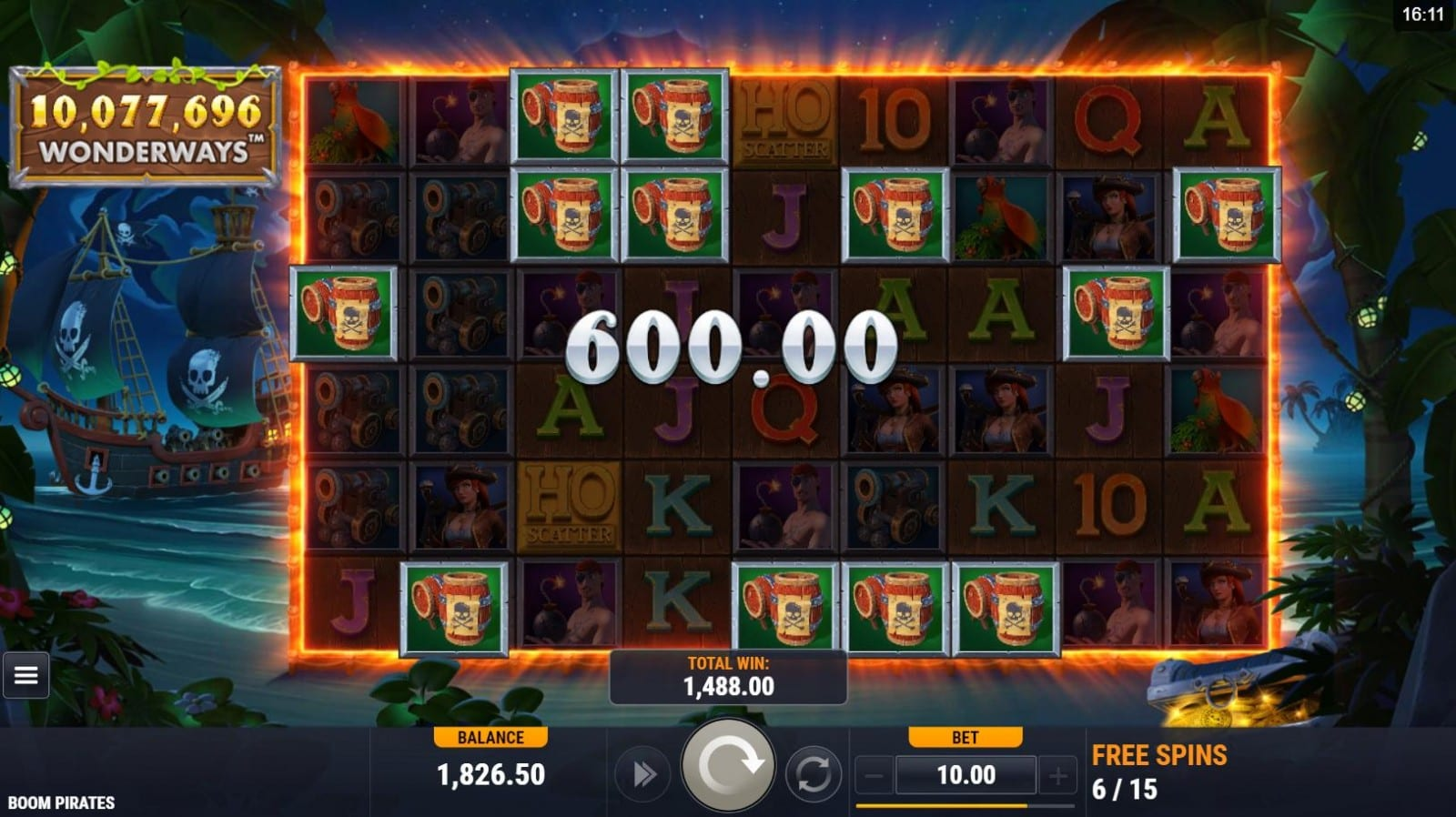 Boom Pirates Slot Win
