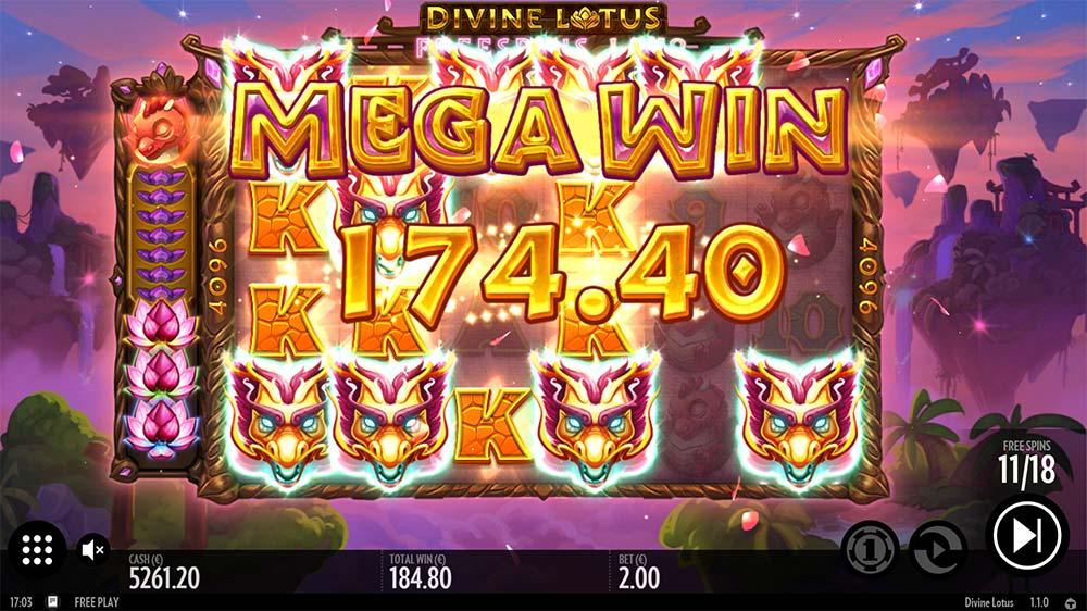 Divine Lotus Slot Big Win