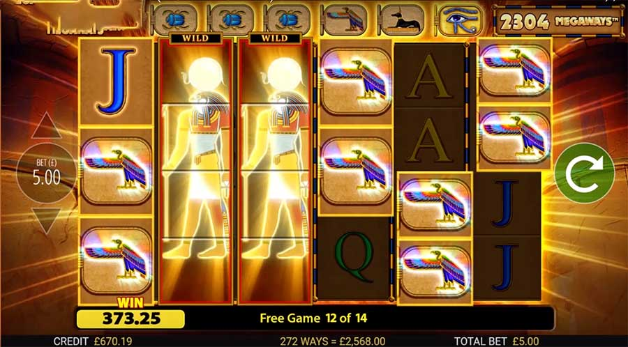 eye of horus megaways slot free spins