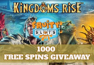 Kingdoms Rise 1000 Free Spins Giveaway