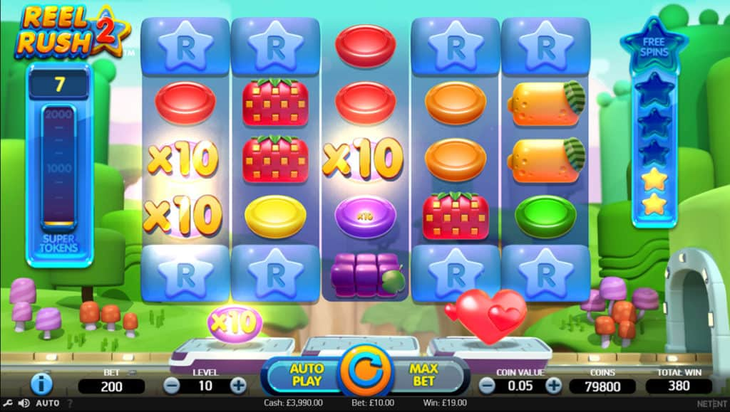 Reel Rush 2 free spins
