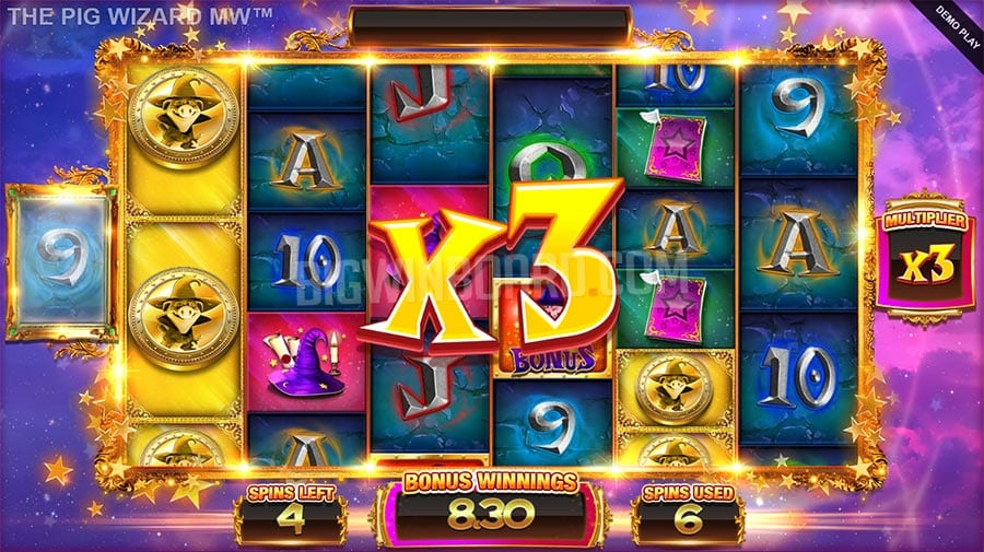 The Pig Wizard Megaways Slot big win