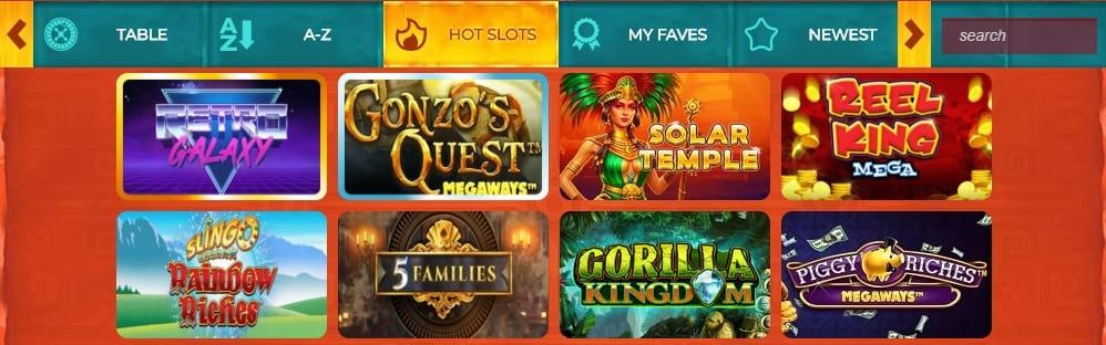 Aztec Wins Casino Home Page