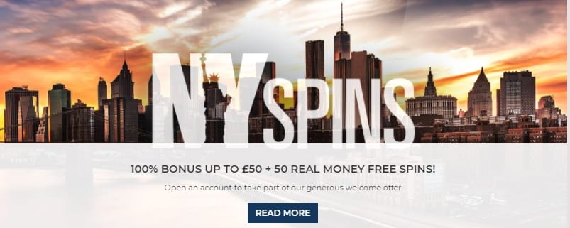 NY Spins Casino Sign Up Offer