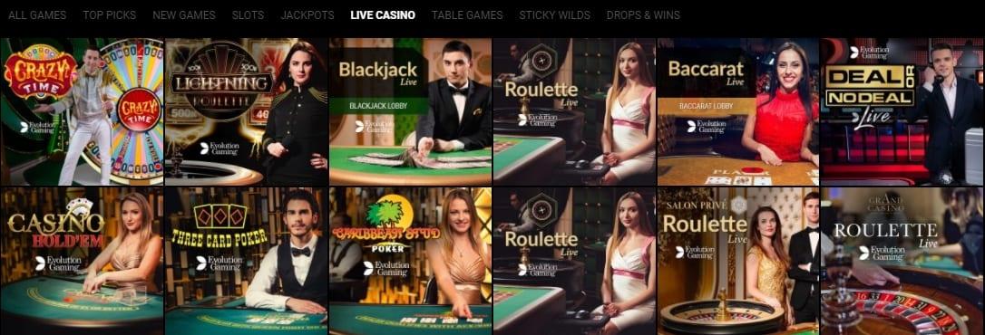 Voodoo Dreams Casino Live Casino